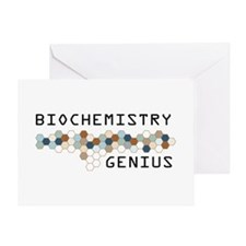 Biochemistry Genius Greeting Card