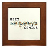 Bees Genius Framed Tile