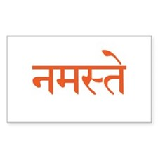 Namaste Rectangle Sticker 10 pk)