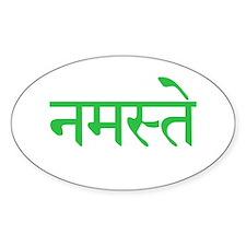 Namaste Oval Sticker (10 pk)