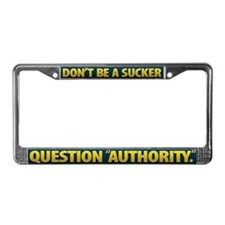 License Plate Frame - BLUE-YELLOW