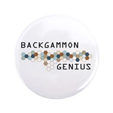 "Backgammon Genius 3.5"" Button (100 pack)"