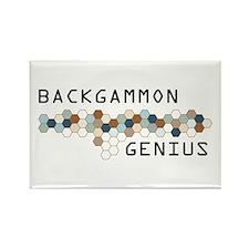 Backgammon Genius Rectangle Magnet
