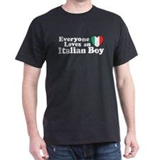 Everyone loves an italian boy Black T-Shirt