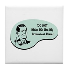Accountant Voice Tile Coaster