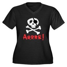 Arrrr! Funny Pirate Women's Plus Size V-Neck Dark