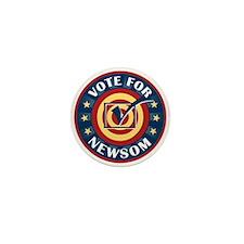Vote for Gavin Newsom Mini Button