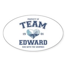 Twilight Team Edward Oval Sticker (10 pk)