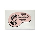 Speech Language Pathologist Voice Rectangle Magnet