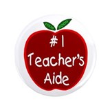 "Apple for Teacher's Aide 3.5"" Button"