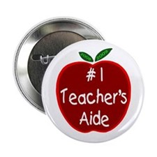 "Apple for Teacher's Aide 2.25"" Button"