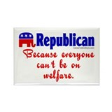 Republican Because Rectangle Magnet
