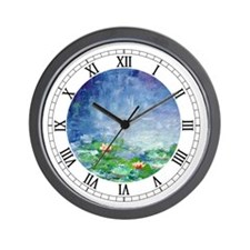 """Waterlilies"" Wall Clock"