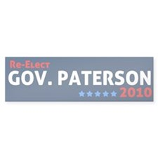 Governor Paterson Bumper Sticker (10 pk)
