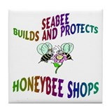 SEABEE/HONEYBEE DESIGN Tile Coaster