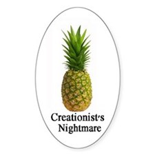 Creationist's Nightmare Oval Decal