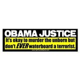 Obama Justice Bumper Car Sticker
