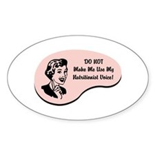 Nutritionist Voice Oval Sticker (10 pk)