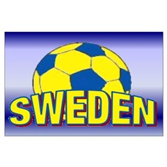 "23""x35"" Large Team Sweden Soccer Poster"