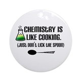 Chemistry Cooking Ornament (Round)