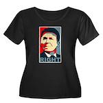 Reagan Right Women's Plus Size Scoop Neck Dark T-S