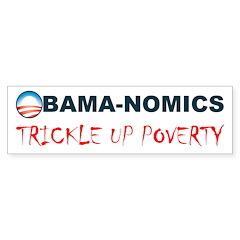 ObamaNomics Trickle Up Povert Sticker (Bumper 50 p