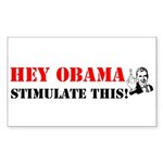 Hey Obama Stimulate This Rectangle Sticker 50 pk)