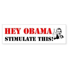 Hey Obama Stimulate This Bumper Sticker (10 pk)