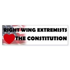 Right Wing Extremists Love Bumper Bumper Sticker