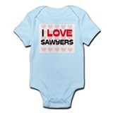 I LOVE SAWYERS Infant Bodysuit