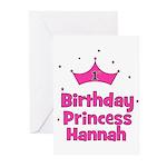 1st Birthday Princess Hannah! Greeting Cards (Pk o