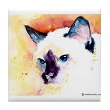 Siamese Cat Gifts Tile Coaster