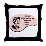 Compliance Person Voice Throw Pillow