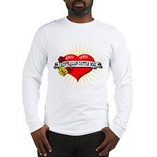 Australian Cattle Dog Heart Long Sleeve T-Shirt