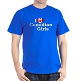 I love Canadian Girls Black T-Shirt