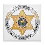 Florida Game Warden Tile Coaster
