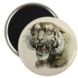 Snarling Tiger Magnet