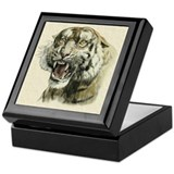 Snarling Tiger Keepsake Box