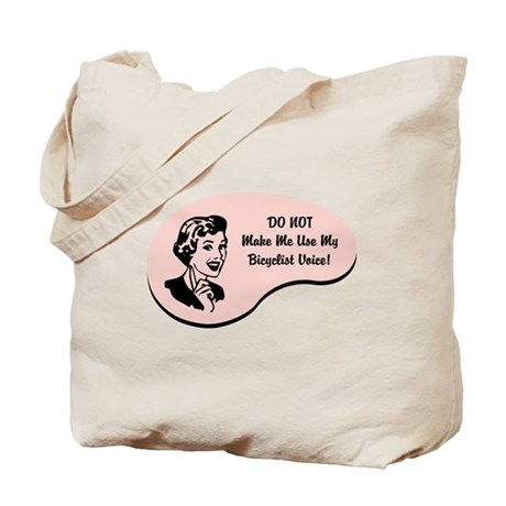 Bicyclist Voice Tote Bag