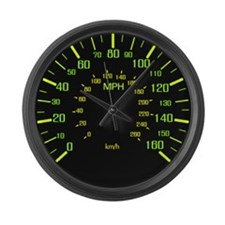 Large Speedometer Clock