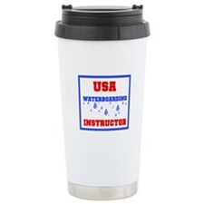 WATERBOARDING Ceramic Travel Mug