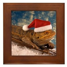 Cute Bearded dragon Framed Tile