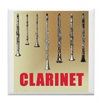 Clarinet Tile Coaster