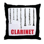 Clarinet Throw Pillow