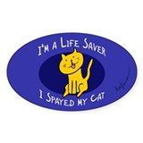 I Spayed My Cat Oval Decal