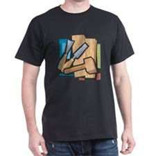 Carving Black T-Shirt