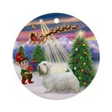 Christmas Tree &amp; Sealyham Terrier Ornament (Round)