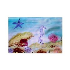 """Marine Life Fantasy"" Rectangle Magnet"