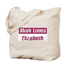 Mom Loves Elizabeth Tote Bag
