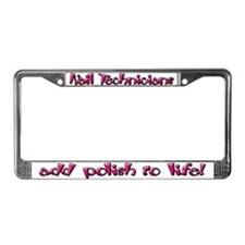 Nail Technicians License Plate Frame